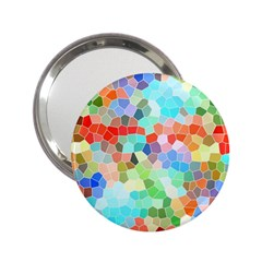 Colorful Mosaic  2 25  Handbag Mirrors