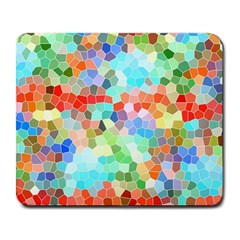 Colorful Mosaic  Large Mousepads