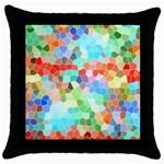Colorful Mosaic  Throw Pillow Case (Black) Front