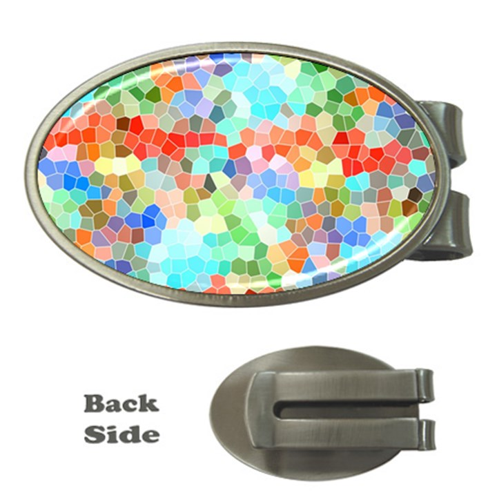 Colorful Mosaic  Money Clips (Oval)