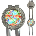 Colorful Mosaic  3-in-1 Golf Divots Front