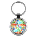 Colorful Mosaic  Key Chains (Round)  Front