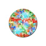 Colorful Mosaic  Rubber Coaster (Round)  Front