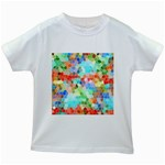 Colorful Mosaic  Kids White T-Shirts Front