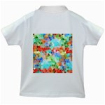 Colorful Mosaic  Kids White T-Shirts Back