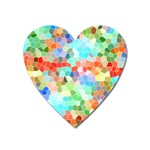Colorful Mosaic  Heart Magnet Front