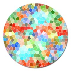 Colorful Mosaic  Magnet 5  (round)