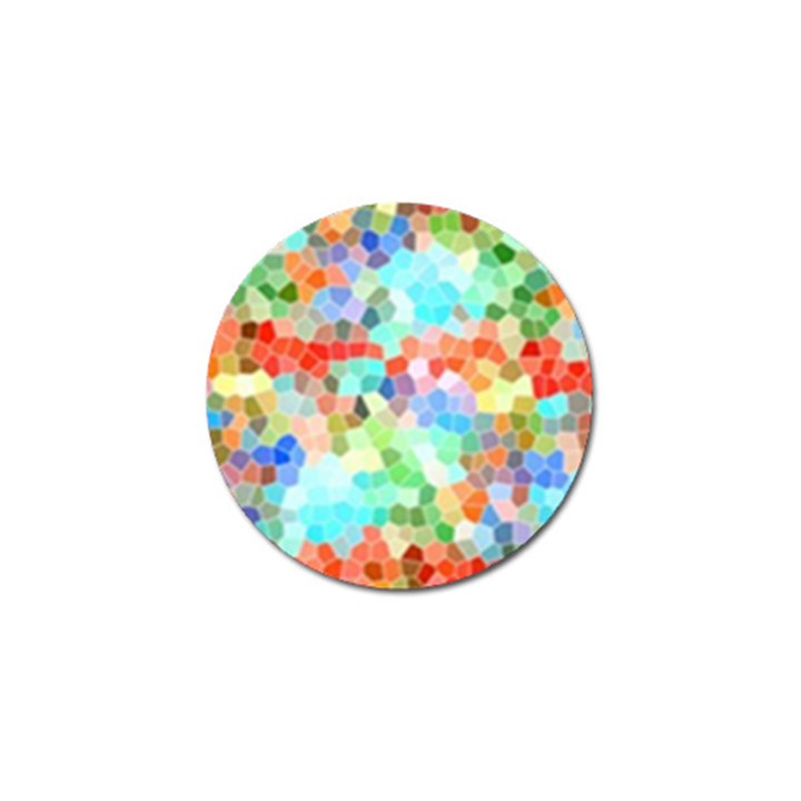 Colorful Mosaic  Golf Ball Marker