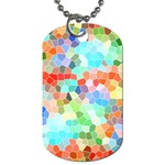 Colorful Mosaic  Dog Tag (Two Sides) Back