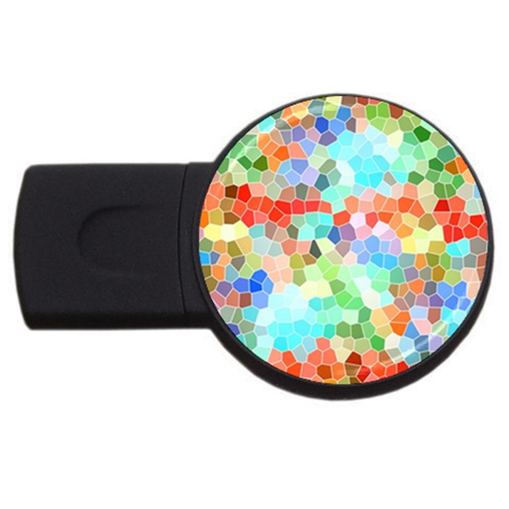 Colorful Mosaic  USB Flash Drive Round (1 GB)