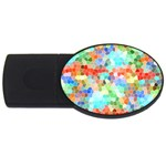 Colorful Mosaic  USB Flash Drive Oval (1 GB)  Front