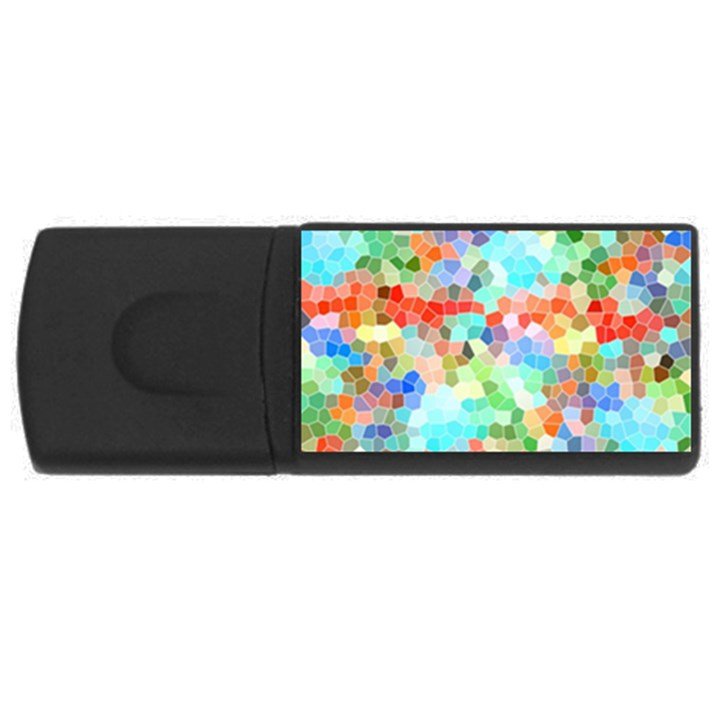 Colorful Mosaic  USB Flash Drive Rectangular (1 GB)