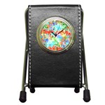 Colorful Mosaic  Pen Holder Desk Clocks Front