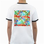 Colorful Mosaic  Ringer T-Shirts Back