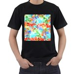 Colorful Mosaic  Men s T-Shirt (Black) (Two Sided) Front