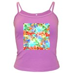 Colorful Mosaic  Dark Spaghetti Tank Front