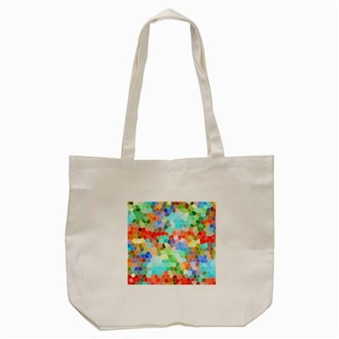 Colorful Mosaic  Tote Bag (Cream)