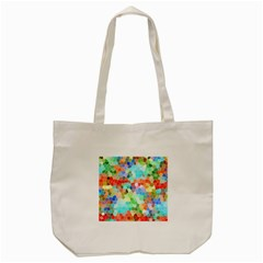 Colorful Mosaic  Tote Bag (cream)