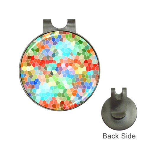 Colorful Mosaic  Hat Clips with Golf Markers