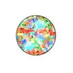 Colorful Mosaic  Hat Clip Ball Marker Front