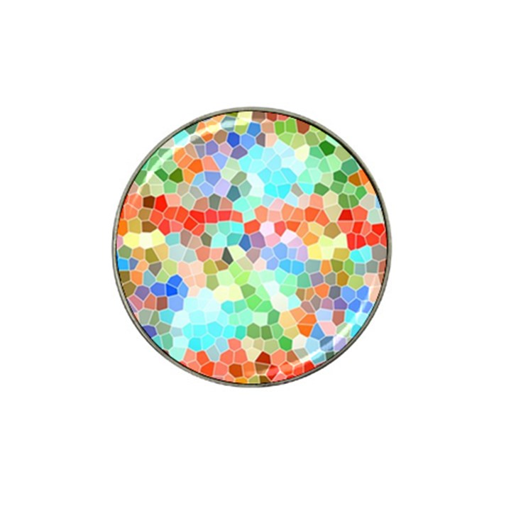 Colorful Mosaic  Hat Clip Ball Marker (10 pack)