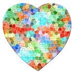 Colorful Mosaic  Jigsaw Puzzle (Heart) Front