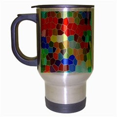 Colorful Mosaic  Travel Mug (silver Gray)