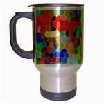 Colorful Mosaic  Travel Mug (Silver Gray) Left