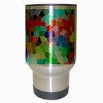 Colorful Mosaic  Travel Mug (Silver Gray) Center