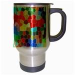Colorful Mosaic  Travel Mug (Silver Gray) Right
