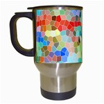 Colorful Mosaic  Travel Mugs (White) Left