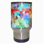 Colorful Mosaic  Travel Mugs (White) Center