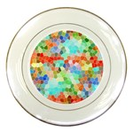 Colorful Mosaic  Porcelain Plates Front