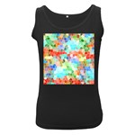 Colorful Mosaic  Women s Black Tank Top Front