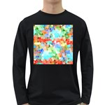 Colorful Mosaic  Long Sleeve Dark T-Shirts Front