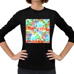 Colorful Mosaic  Women s Long Sleeve Dark T-Shirts Front