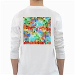 Colorful Mosaic  White Long Sleeve T-Shirts Back
