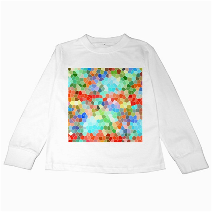 Colorful Mosaic  Kids Long Sleeve T-Shirts