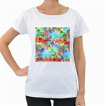 Colorful Mosaic  Women s Loose-Fit T-Shirt (White) Front