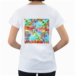 Colorful Mosaic  Women s Loose-Fit T-Shirt (White) Back