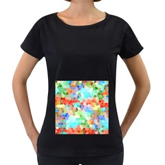 Colorful Mosaic  Women s Loose Fit T Shirt (black)