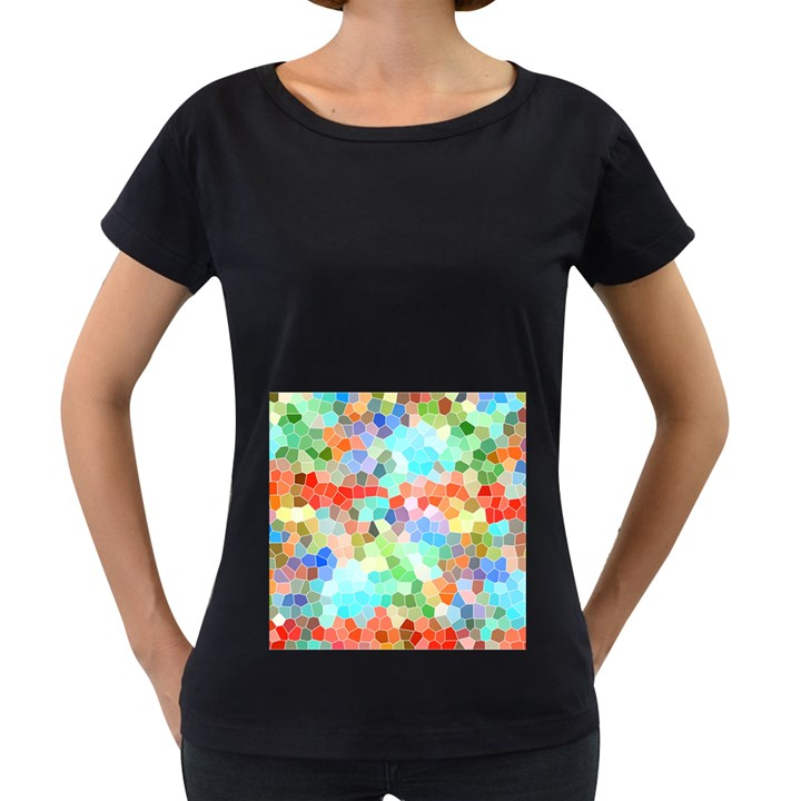 Colorful Mosaic  Women s Loose-Fit T-Shirt (Black)