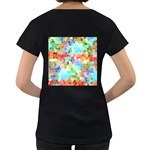 Colorful Mosaic  Women s Loose-Fit T-Shirt (Black) Back