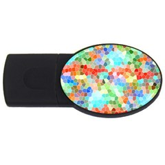 Colorful Mosaic  USB Flash Drive Oval (4 GB)