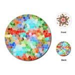 Colorful Mosaic  Playing Cards (Round)  Front
