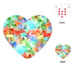Colorful Mosaic  Playing Cards (Heart)  Front