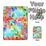 Colorful Mosaic  Playing Cards 54 Designs  Front - Joker2