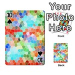Colorful Mosaic  Playing Cards 54 Designs  Front - Spade10
