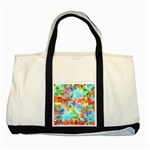 Colorful Mosaic  Two Tone Tote Bag Front