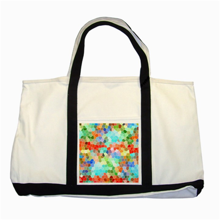 Colorful Mosaic  Two Tone Tote Bag